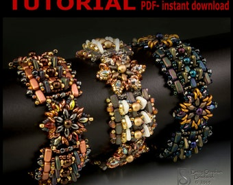 Shapeshifter Beadwoven Bracelet- PDF tutorial instant download