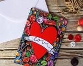 Love greeting card & envelope illustration