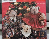Simplicity 7452 - Cute Holiday Teddy Bears & Wardrobe - Two Sizes of Bears - Very Cute - UNCUT