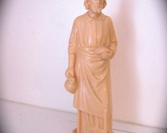 1960's St Joseph  Plastic Shrine and statue- Bury him to Sell your house fast