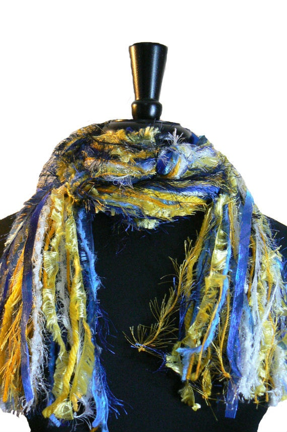 San Diego Chargers, UCLA Bruins, Michigan Wolverines, Golden State Warriors - College Scarf NFL Scarves - Blue, Yellow, Gold and White