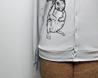 Silver Squirrel Cardigan - Unisex (L)