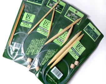 "Clover Takumi Bamboo Knitting Needles Flex Straights 20"" - US 11 (8mm)"