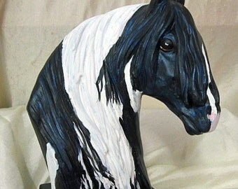 Gypsy Vanner horse bust