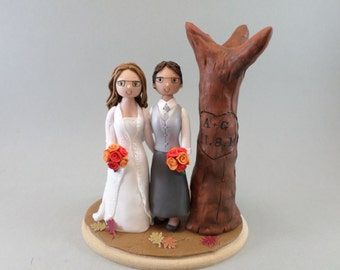 Personalized Same Sex Outdoor Wedding Cake Topper