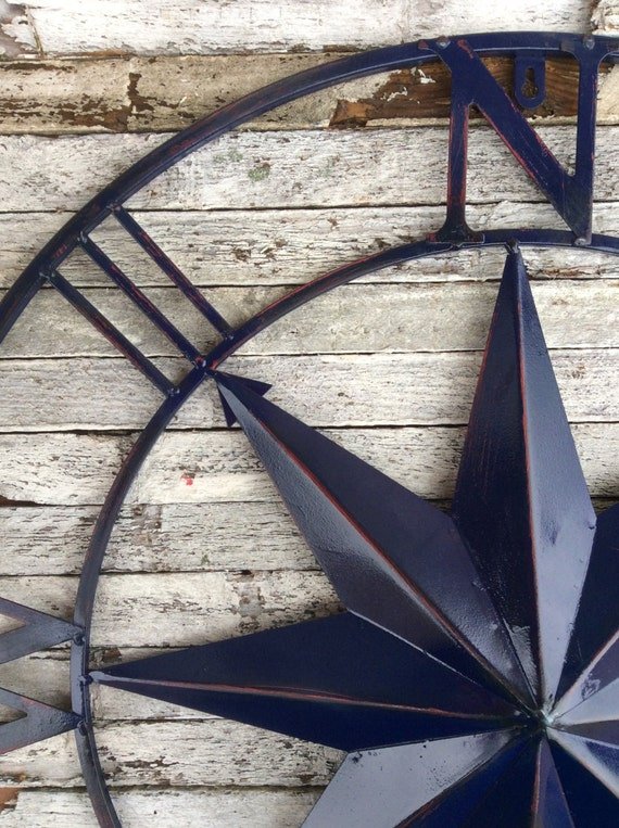 Nautical Wall Art Metal Wall Compass Metal Wall By