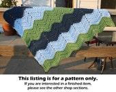 Crochet pattern, crochet baby blanket pattern, chevron baby blanket, chunky baby blanket, crochet afghan pattern, ripple blanket