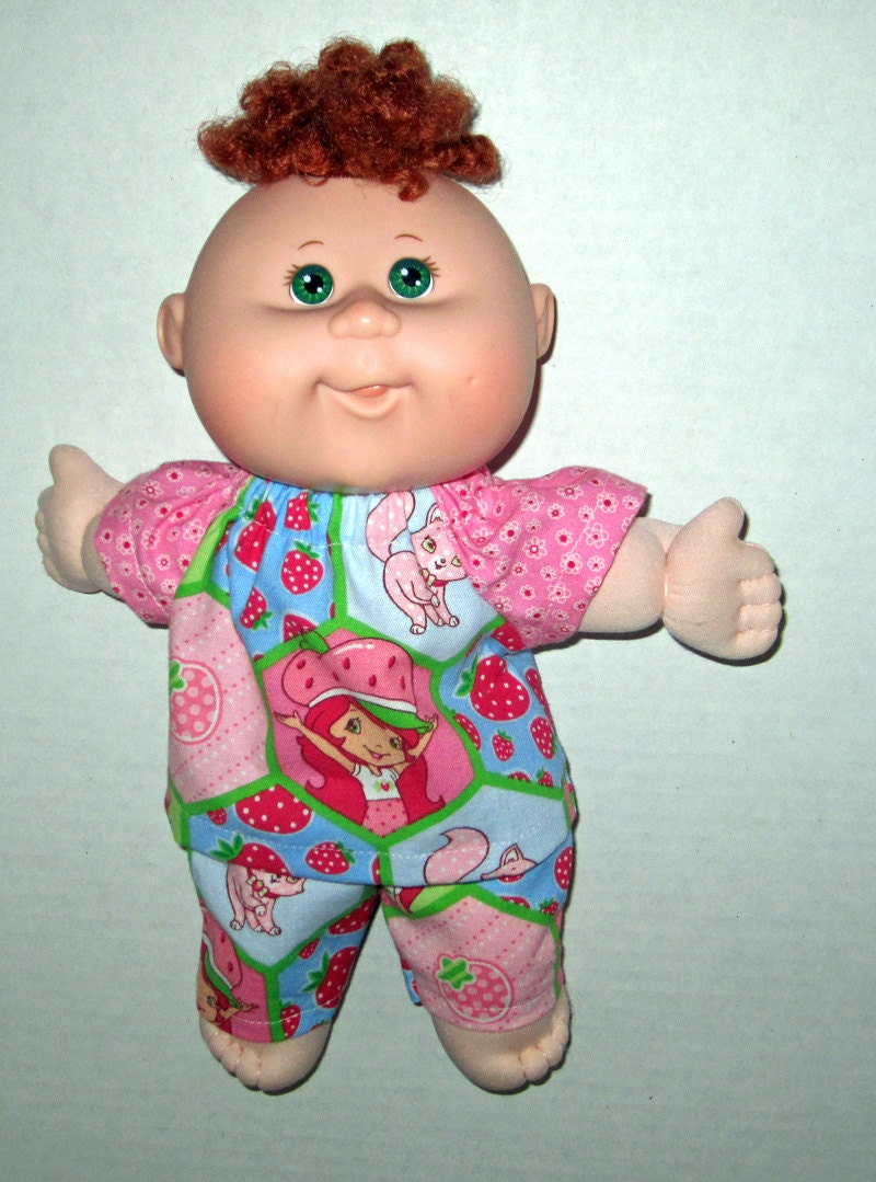 cabbage patch newborn doll clothes pink strawberry