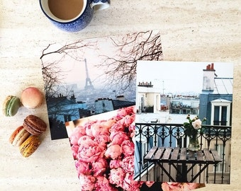 Paris Print Set, ,Travel Photography, Any Three 8x10 or 8x8 Photographs, Office Decor, Kitchen Art, Paris Photography Print, Bedroom Decor