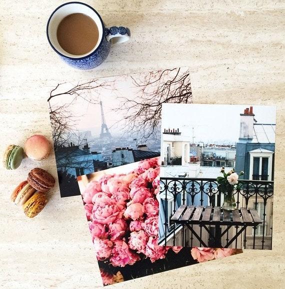Paris, Nature, Nursery, Nature,Travel Photography, Any Three 8x10 or 8x8 Photographs, Office Decor, Kitchen Art, Bedroom Decor
