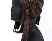 aviator, hat, flight cap, tank girl, leather, distressed, steampunk: Renegade Icon Designs