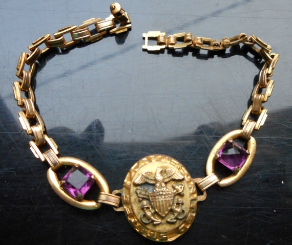 Vintage Sweetheart Bracelet Wwii Us Sweetheart Jewelry. Purple Diamond Wedding Rings. Name Necklace. Moon Pendant. Buddhist Bracelet. Gps Tracking Device Ankle Bracelet. Sister Necklace. Beaded Bands. Lavender Wedding Rings