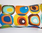 "Throw Pillow Cover, Toss Pillow, Accent Pillow, Lumbar Cover, Multicolor Modern Pillow, 22x14"" Alexander Henry's Boule Multi Bright Fabric"