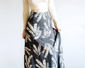Sundara Maxi - High Waisted Maxi Skirt - American Milled Fabric in Heather Grey - By Simka Sol®