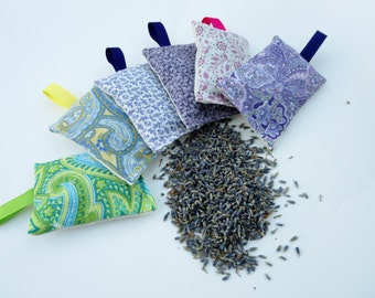 Lavender sachets set of three, Scent lavender sachet, Scented drawer sachets, Closet lavender sachet, Moth repellent