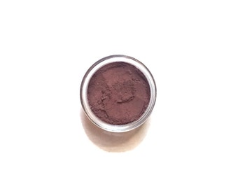 Wine - Warm Red with Purple Undertones Vegan Mineral Eyeshadow  - Handcrafted Makeup
