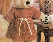 Post Free Teddy Bear Clothes Knitting Pattern / 4ply  Yarn / Teddy's Dress / PDF instant download Post Free