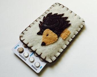 Pill Case Birth Control Cozy- Mini Hedgehog