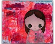 Art for kids room- girls room decor- original painting