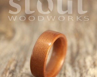 SIZE 6 - Classic Ancient Kauri Bentwood Ring - Handcrafted Wooden Ring