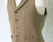 Notch Collar Vests---in Your Choice of Tweeds