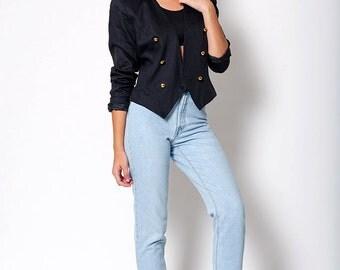 The Vintage Lux Classic Black Blazer
