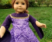 Medieval Princess Dress, Purple, 18 inch Dolls and American Girl