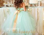 Mint Green Flower Girl Tutu Dress