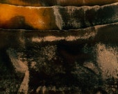 Hand painted velvet scarf Abstract silk velvet scarf Ocher grey scarf Geometric scarf Long Multicolored scarf Shawl Scarf Painted