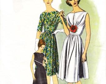 Vogue Paris Original 1004 by Gres - Vintage 60s dress sewing pattern - bust 34
