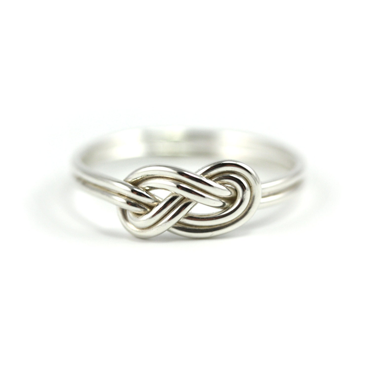 sterling silver infinity knot ring delicate ring