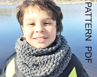 Instant Download  Knitting Pattern  Toddler  Child  Adult  sizes  PDF Cowl   scarf  pattern  Beginner Pattern   Winter  Fashion diy for him