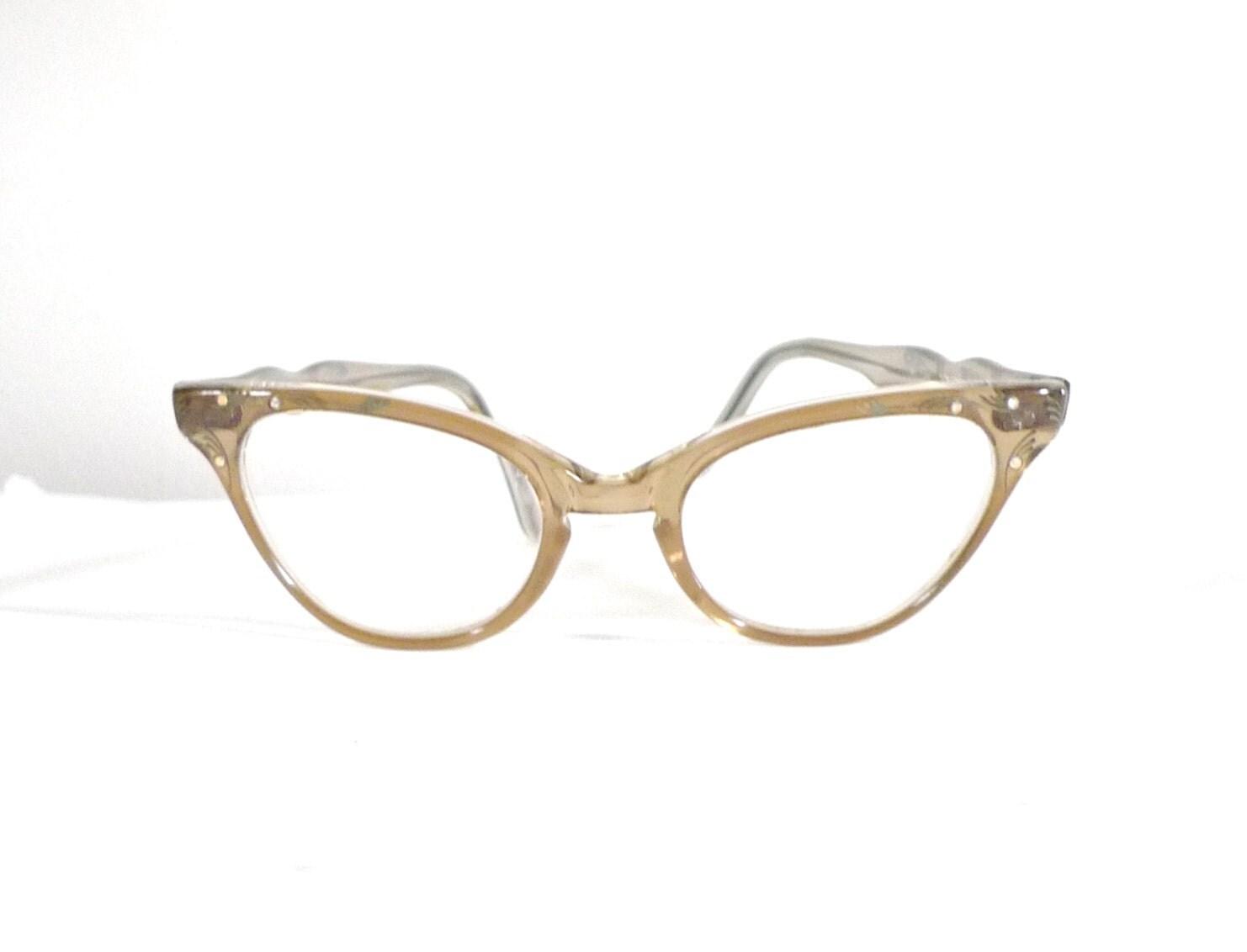 Cat Eye Rhinestone Eyeglass Frames : Rhinestone Frame France Cat Eye Glasses / TWEC / by ...