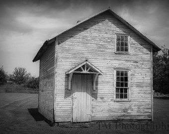 Really Old House - Old House - Amana Colonies - Iowa - Black and White - 1800's - Fine Art Photography
