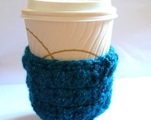 Turquoise Blue Green Glitter Cup Cosy Take Out