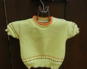 toddler sweater yellow brown orange vintage.
