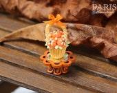 Pumpkin Basket Autumn Cupcake - Showstopper B - 12th Scale Miniature Food
