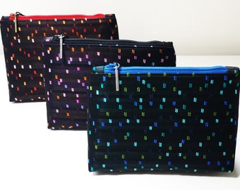 Special Price - Confetti Jacquard - Set of 3 Flat-Bottom Zip Bags - FREE SHIPPING