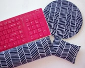 Matching set Keyboard and / or WRIST REST  MousePads  - Pick your own pattern - office Desk Accessories decor college gift