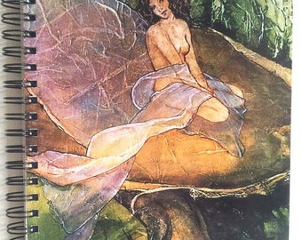 Journal Diary FOREST FAIRY Lynne French Art 80 Pgs.Spiral Bound