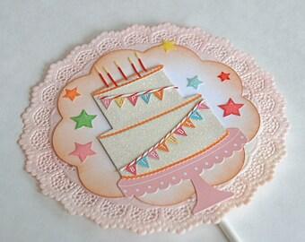 Happy Birthday Banner - Cake Topper