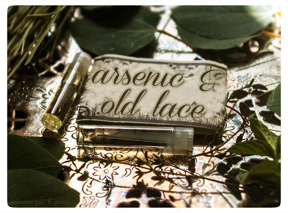 arsenic and old lace - all natural perfume oil twin vial sampler pack - primary notes: rosewood and bay