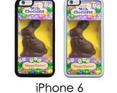 iPhone 6S 6 or PLUS Chocolate Easter Bunny Candy Rabbit Case Your Choice of Trim Hard, Rubber or Tough Cases