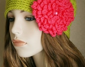 Fall Beanie Crochet Hat Womens Hat with Flower Cloche Womens Hat Womens Accessories Grass and Arbor Rose Colorful Hat