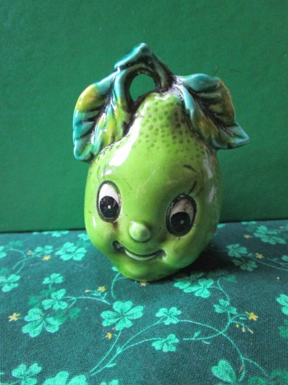 Vintage anthropomorphic toothpick holder pear by junquegypsy - Toothpick holder for purse ...