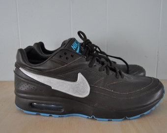 Custom Nike Air Max Sneakers Authentic 2000s Dark Brown White Silver Electric Blue Leather Shoes MENS 11