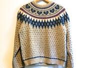 Wool Ski Sweater // Vintage // FREE SHIPPING