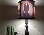 Nosferatu Lampshade lamp shade - lighting, Halloween decor, goth decor, classic horror movie, vampire, gothic decor, morbid,sepia, cool gift