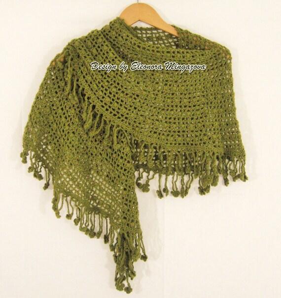 Hand Crocheted 100% wool shawl / scarf
