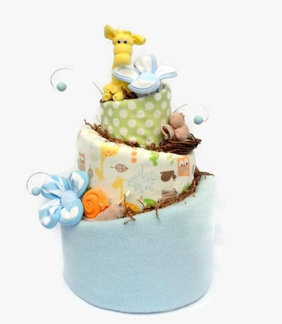 Woodland Baby Shower Decoration, Safari Baby Shower, Woodland Shower Centerpiece, Woodland Diaper Cake, Woodland Shower Cake, Forest Friends